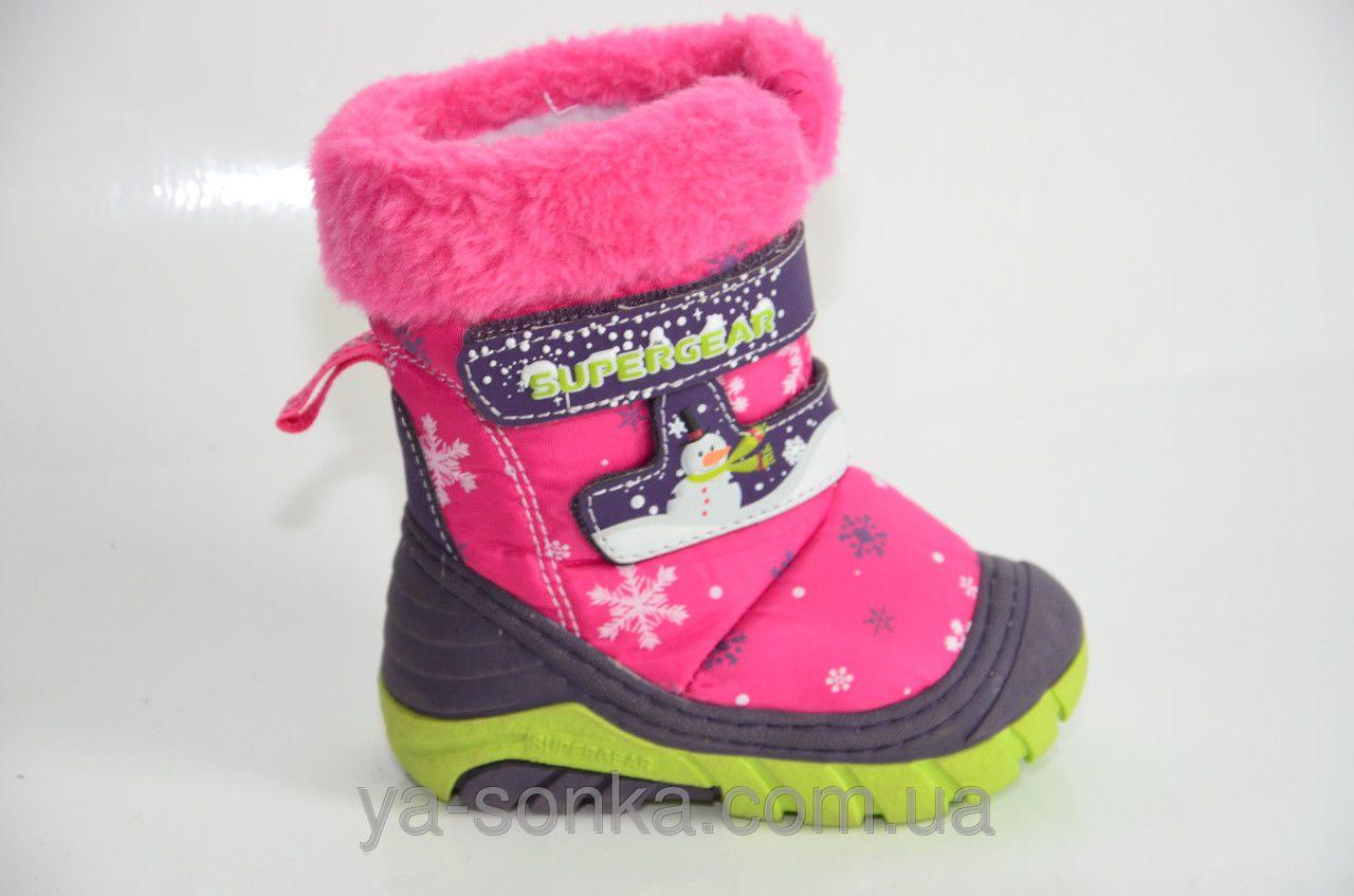 7dfc555a24e7 Купить детскую зимнюю обувь. Термо ботинки для девочки SuperGear ...
