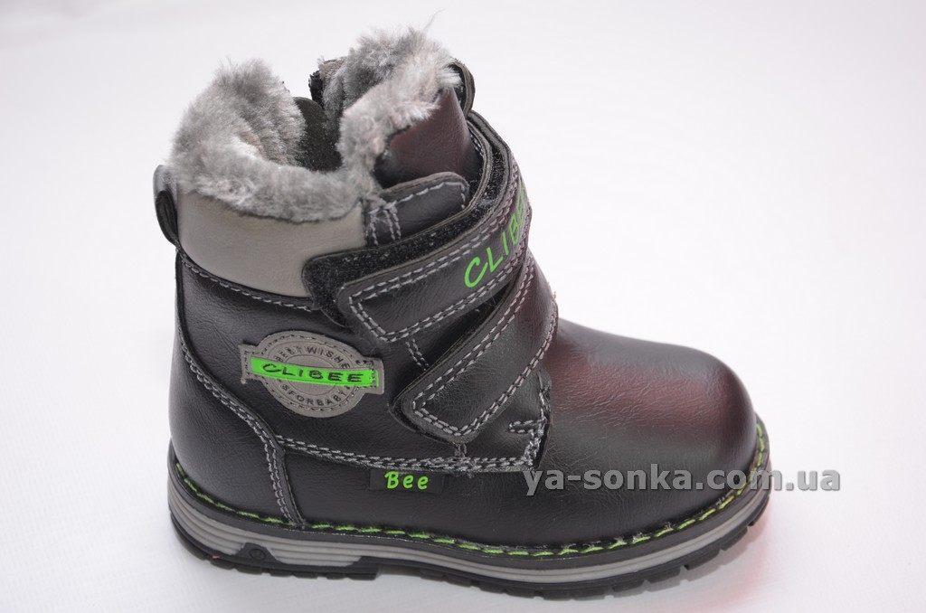 4fb89b3d80d0b9 Купить детскую зимнюю обувь. Ботинки зимние для мальчика Clibee, 524 ...