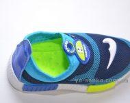 Кроссовки-мокасины сетка для мальчика