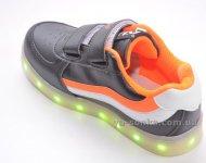 Кроссовки для мальчика c LED подсветкой USB зарядкой