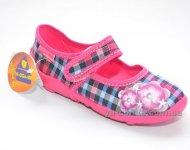 Текстильные мокасины для девочки