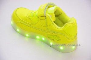 Кроссовки для девочек c LED подсветкой USB зарядкой